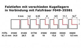 Kugellager B 28,5 Falz 3,2