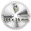 Kreissägeblatt <br/>Ø 184 x 16mm