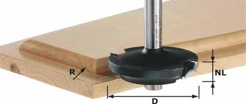 Abplattfräser HW Schaft 8 mm HW D42,7/13/R6