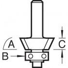 Fase-/Bündigfräser HM Z3 mit Kugellager
