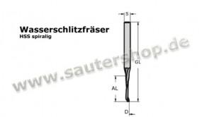 Wasserschlitzfräser HS (HSS)