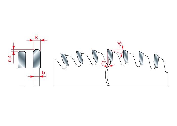 Kreissägeblatt HM 250 x 3.2/2,5 x 30 mm, Z=80