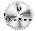 Kreissägeblatt <br/> Ø 420 x 30mm