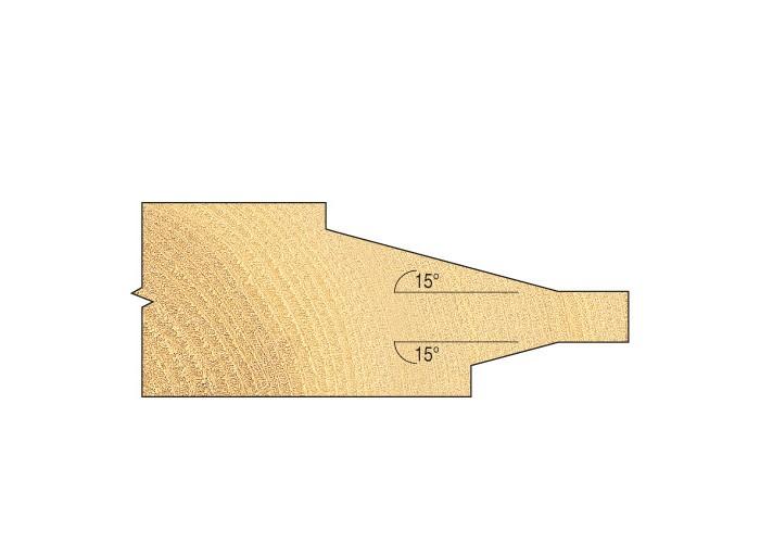 Abplattfräser für Nut- und Federbrett C170A