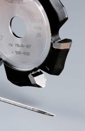 V-Nutfräser HW 118x14-90°/Alu