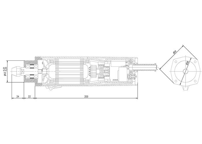 Fräsmotor Suhner UAC 30 RF