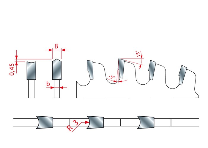 Kreissägeblatt HM 220 x 3,2/2,2 x 30 mm, Z=42