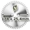 Kreissägeblatt <br/>Ø 178 x 25,4mm