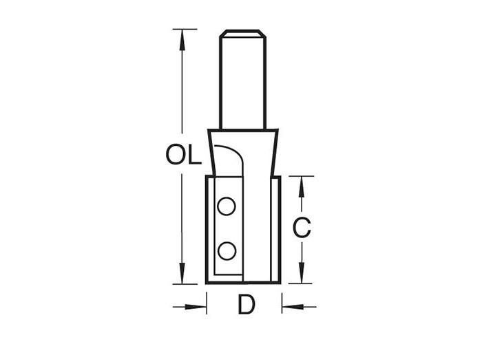 Wendeplatten-Nutfräser Z2