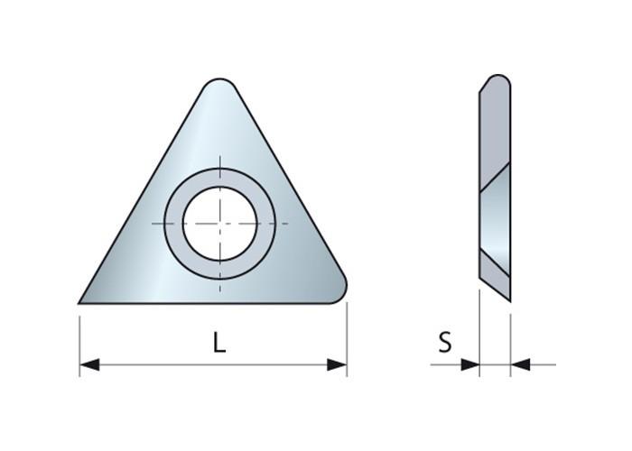 Dreieck-Vorschneider mit Rundung 21.9 x 2.5