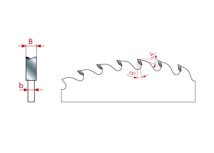 Kreissägeblatt HM 250 x 2,5/1,6 x 30 mm, Z=48
