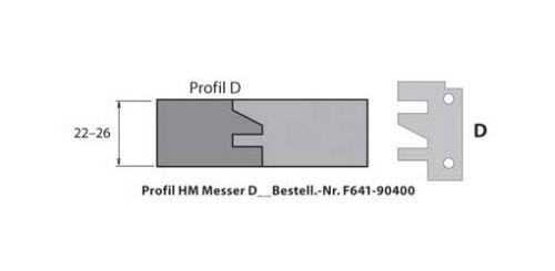 HM-Profil- & Konterprofilmesser Typ D