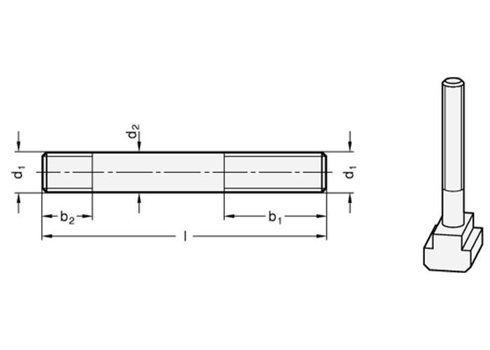 Stiftschraube M8 für T-Nutensteine