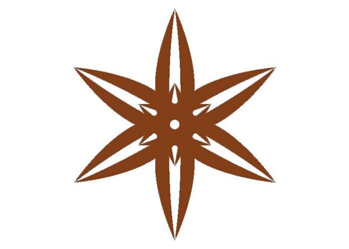 Rosettenfrässchablone Stern