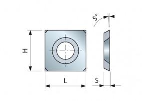 HM-Vorschneider 15 x 15 x 2,5 mm