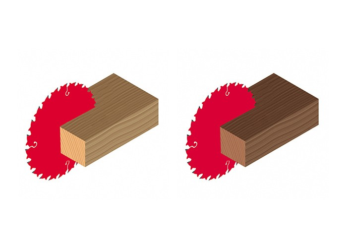 Kreissägeblatt HM 184 x 2,4/1,6 x 16 mm, Z=12