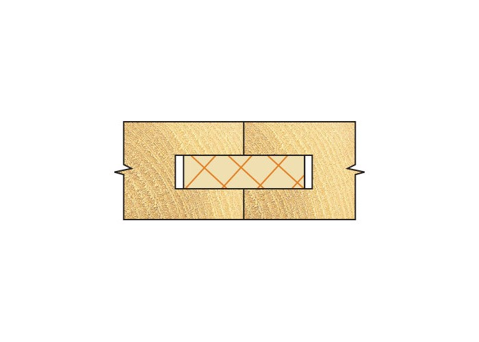 Flachdübelfräser HW (HM) mit 3 Kugellager