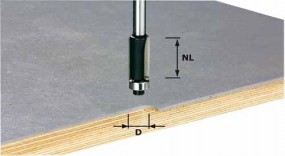 Bündigfräser HW Schaft 8 mm HW S8 D12,7/NL25