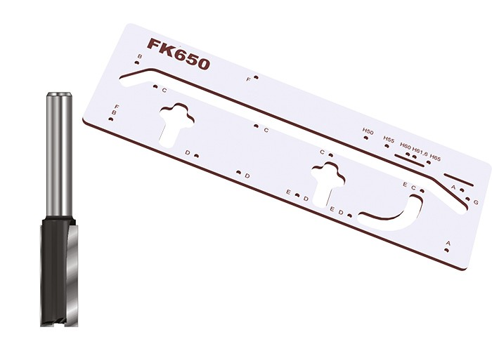 Schablonen-Set FK650 mit Nutfräser S8