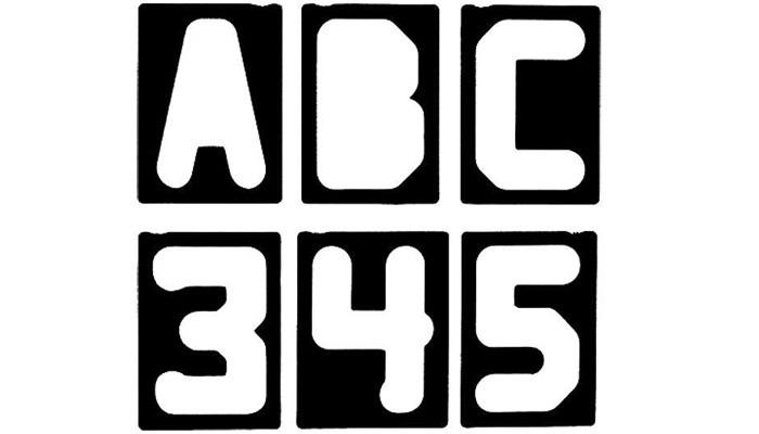 Buchstaben- & Zahlenschablonen