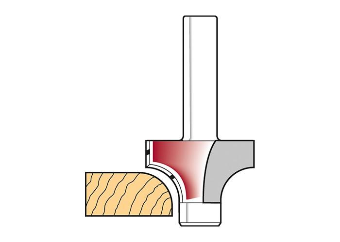 Abrundfräser HW (HM) mit Anlaufzapfen