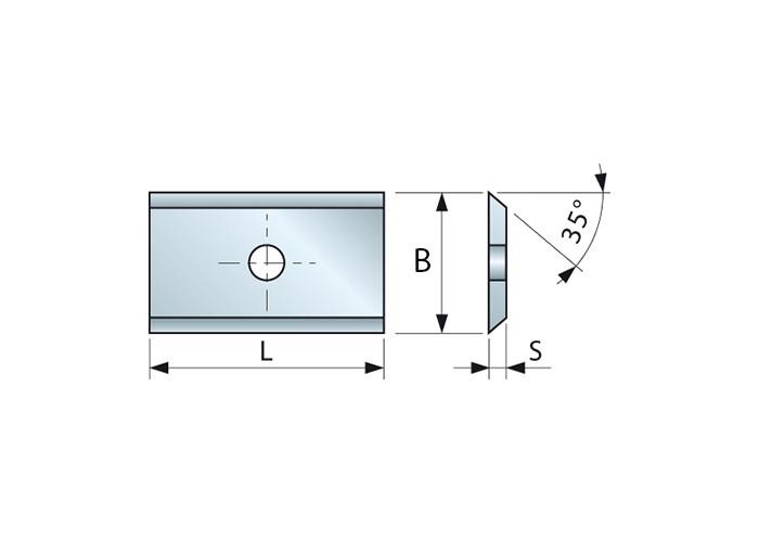 Wendemesser HM 24 x 12 x 1,5 für Oberfräser