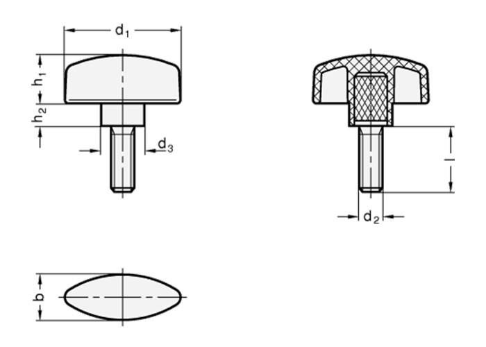 Flügelschraube M8 - 4 Stück
