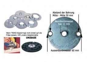 Kopierhülse aus Stahl D 30 x 10 mm