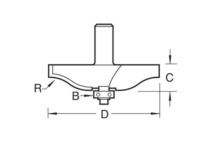 Profil-, Konterprofil- und Abplattfräser Set