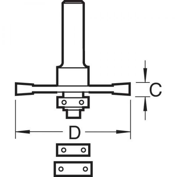 Flachdübelfräser-Set