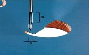 Bohrfräser HW Schaft 8 mm HW S8 D8/19
