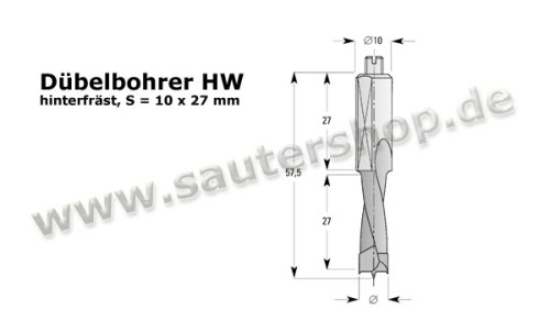 Dübelbohrer HW (HM)