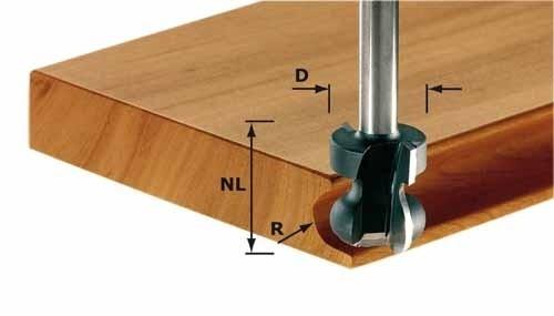 Griffleistenfräser HW Schaft 8 mm HW S8 D22/16/R2,5+6