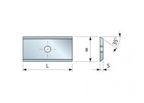 Wendemesser HM 9,6 x 12 x 1,5 für Oberfräser