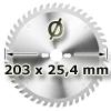 Kreissägeblatt <br/>Ø 203 x 25,4