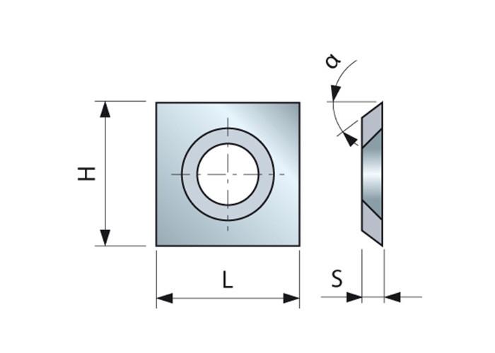 HM-Vorschneider 14 x 14 x 1,2 mm