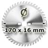 Kreissägeblatt <br/>Ø 170 x 16mm