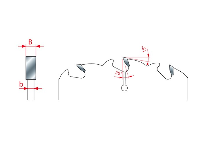 Kreissägeblatt HM 250 x 2,8/2,0 x 30 mm, Z=20+2