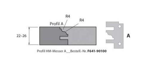HM-Profil- & Konterprofilmesser Typ A