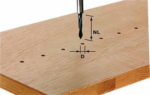 Durchgangsbohrer HW Schaft 8 mm HW S8 D5/30