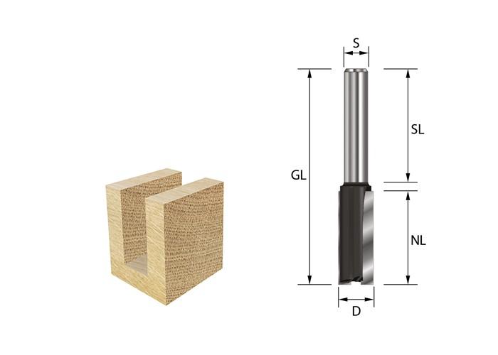 Nutfräser HW (HM) D8 x AL20 x S8