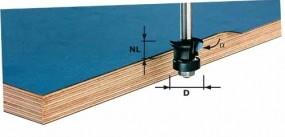 Fase-Bündigfräser HW Schaft 8 mm HW S8 D24/0° +45°