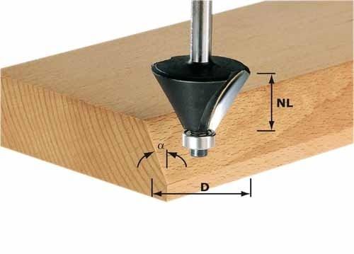 Fasefräser HW Schaft 8 mm HW S8 D36/45°