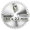 Kreissägeblatt <br/>Ø 180 x 22mm