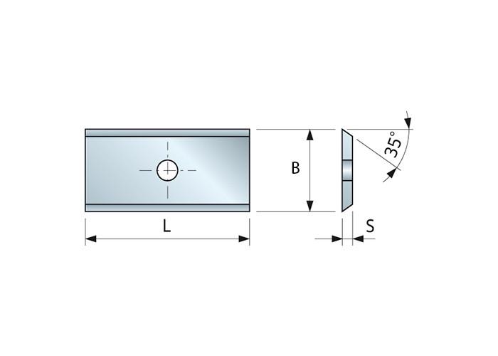 Wendemesser HM 12 x 12 x 1,5 für Oberfräser