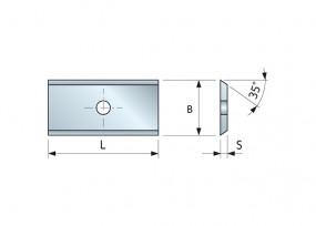 Wendemesser HM 7,6 x 12 x 1,5 für Oberfräser