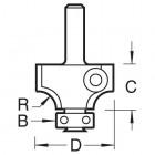 Abrundfräser m. Wechselplatten R 6,3 mm