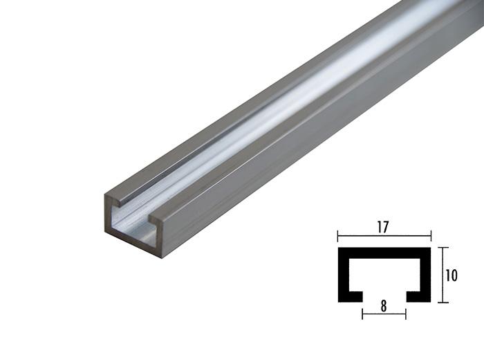 aluminium profilschiene 17 x 10. Black Bedroom Furniture Sets. Home Design Ideas