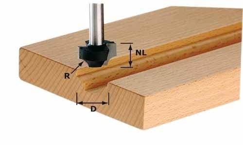 Viertelstabfräser HW Schaft 8 mm HW S8 D17/R3