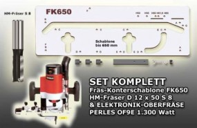 Set: Frässchablone FK650-OF9E